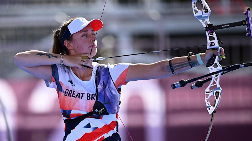 Bryony Pitman of Britain in action in Tokyo