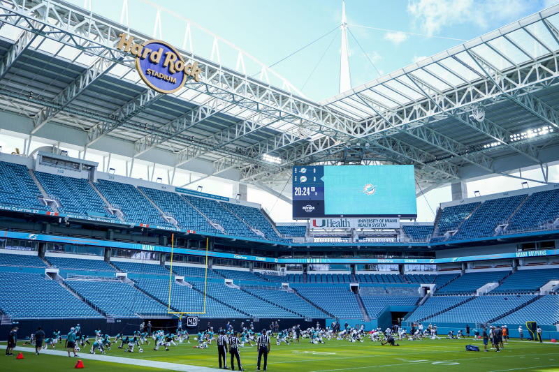 A general view of Hard Rock Stadium.