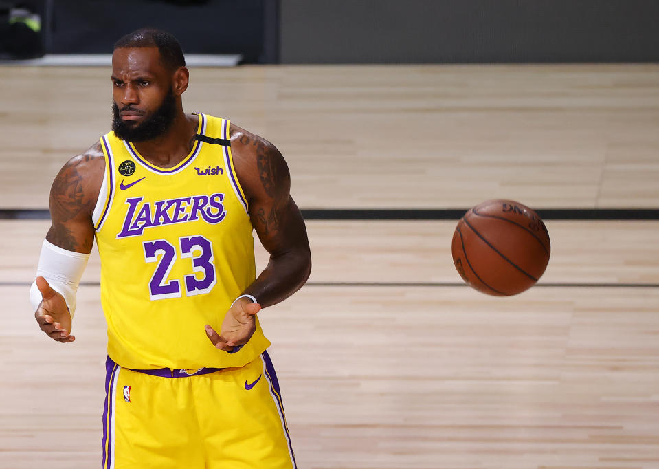 LeBron James has a lot more than basketball on his mind. (Photo by Kevin C. Cox/Getty Images)