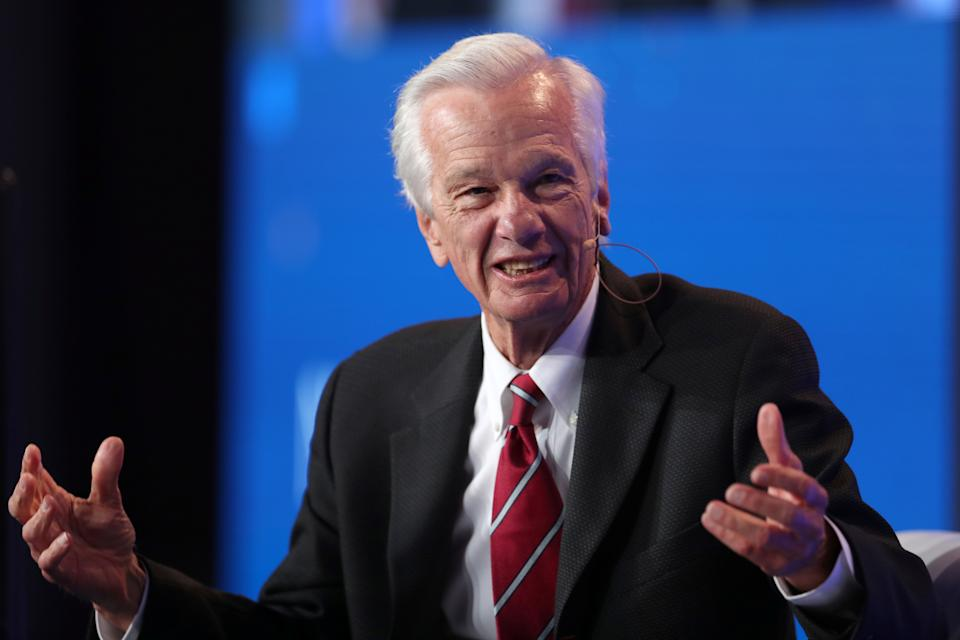 Jorge Paulo Lemann, Co-Founder and Board Member, 3G Capital; Board Member, Kraft Heinz, speaks at the Milken Institute's 21st Global Conference in Beverly Hills, California, U.S. April 30, 2018. REUTERS/Lucy Nicholson