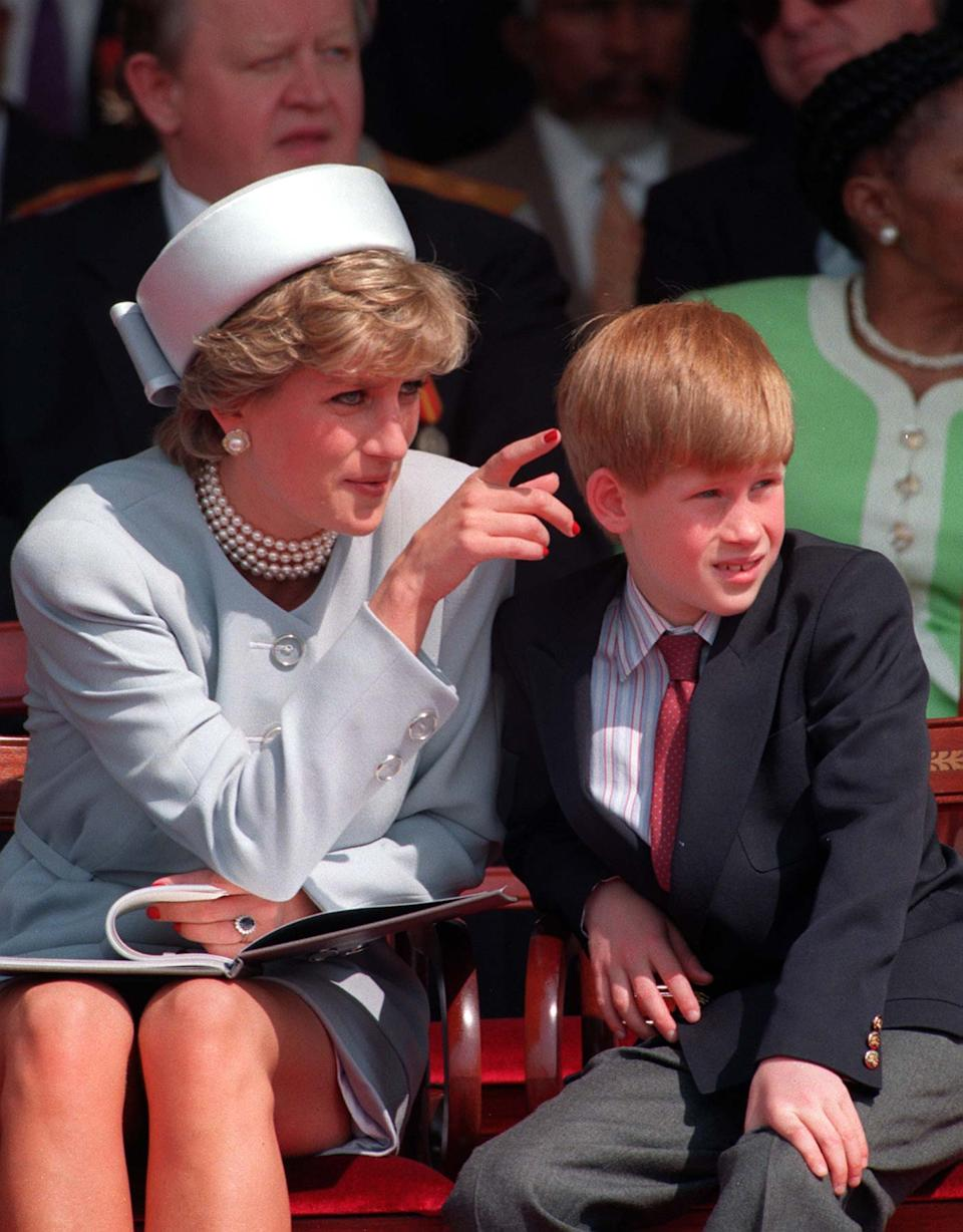 File photo dated 7/5/1995 of Princess of Wales with her younger son Prince Harry. The Duchess of Sussex gave birth to a 7lb 11oz daughter, Lilibet