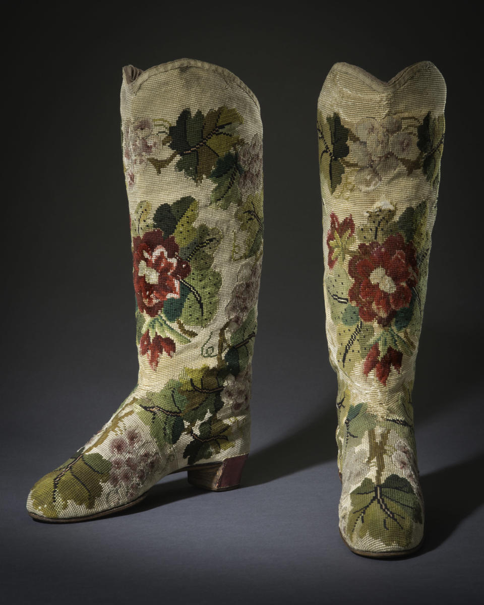 Traveling boots from 1865. - Credit: Courtesy of FIDM