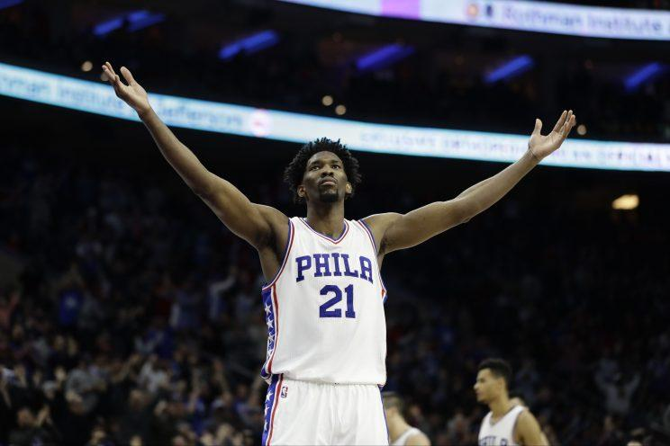 Despite another big injury, Joel Embiid appears to be a franchise player. (AP)