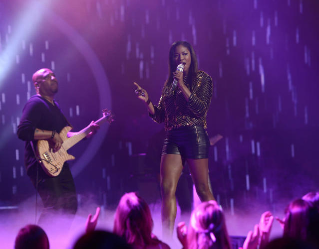 "Amber Holcomb performs Heart's ""What About Love"" on the Wednesday, April 3 episode of ""American Idol."""