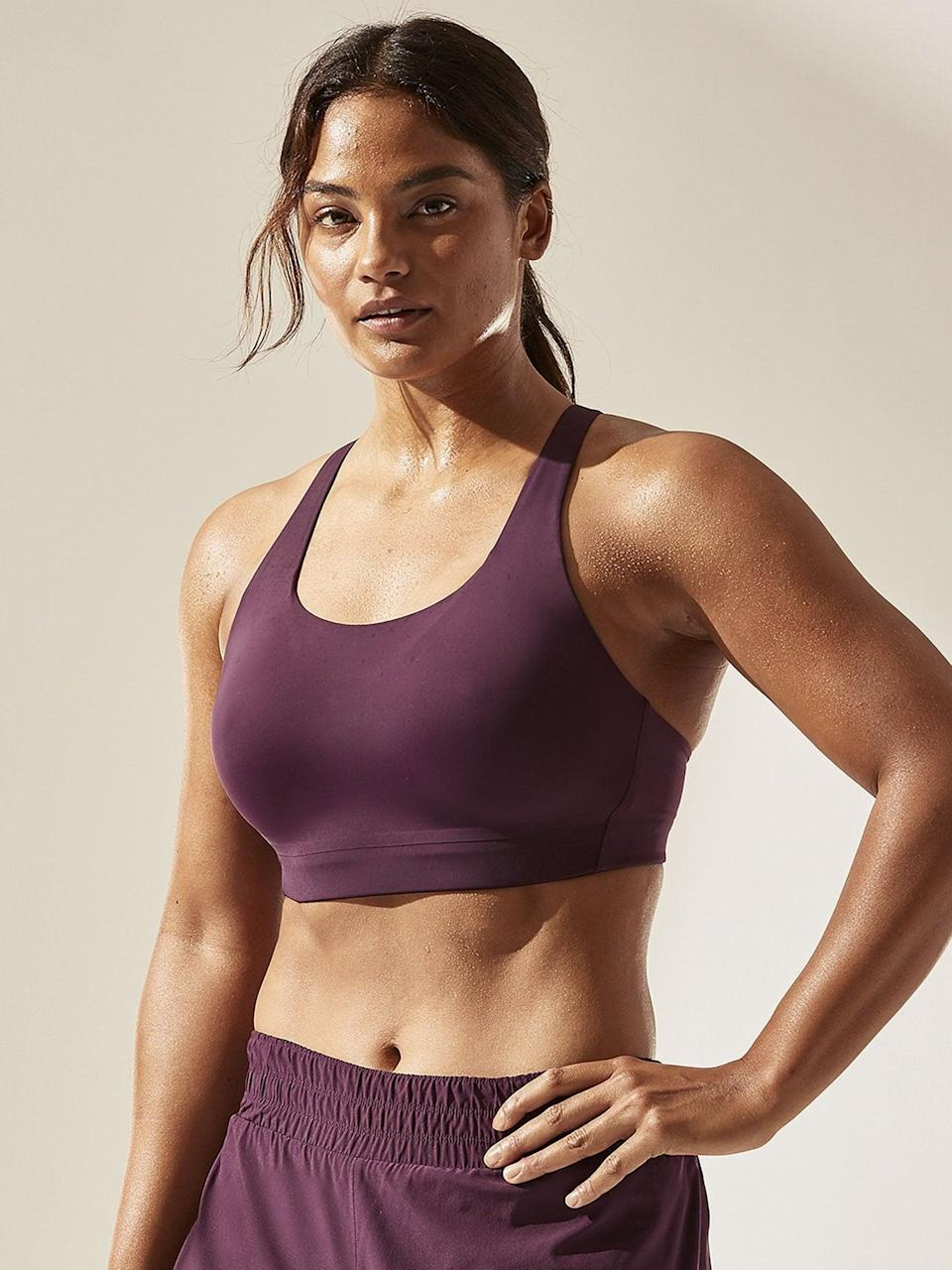 <p>This <span>Athleta Advance Bra B-DD+</span> ($31-$69, originally $69) has enough compression and support for high-impact workouts, no matter your cup size. </p>