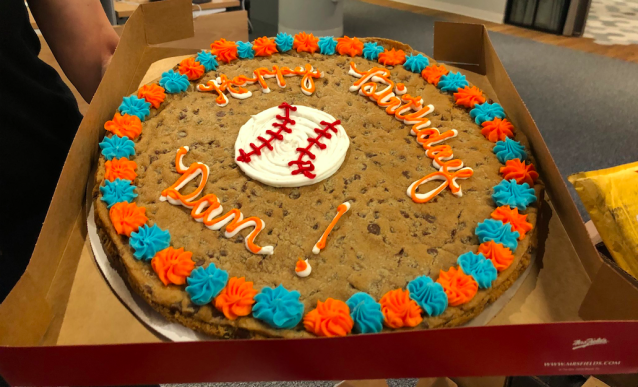 Mrs. Field's makes a mean cookie cake.