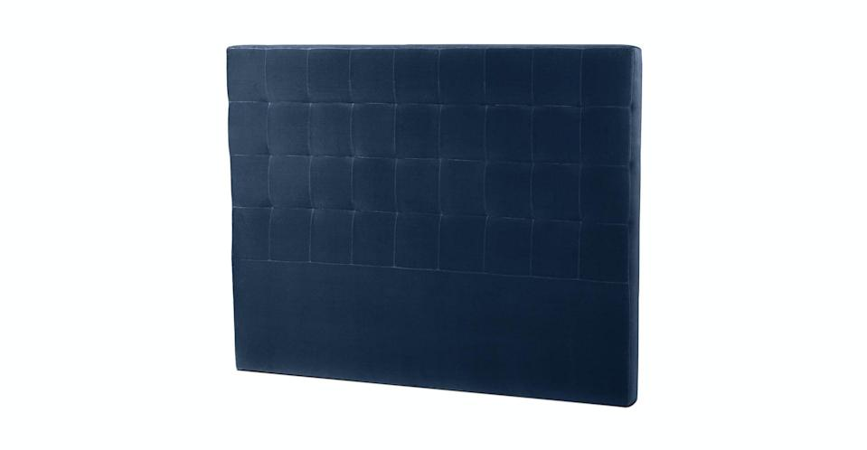 """<p>If you already have a bed frame, you can attach this <a href=""""https://www.popsugar.com/buy/Article-Lito-Cascadia-Blue-Queen-Headboard-581929?p_name=Article%20Lito%20Cascadia%20Blue%20Queen%20Headboard&retailer=article.com&pid=581929&price=459&evar1=casa%3Aus&evar9=47549692&evar98=https%3A%2F%2Fwww.popsugar.com%2Fhome%2Fphoto-gallery%2F47549692%2Fimage%2F47549805%2FArticle-Lito-Cascadia-Blue-Queen-Headboard&list1=shopping%2Cfurniture%2Cbeds%2Cbedrooms%2Chome%20shopping&prop13=mobile&pdata=1"""" class=""""link rapid-noclick-resp"""" rel=""""nofollow noopener"""" target=""""_blank"""" data-ylk=""""slk:Article Lito Cascadia Blue Queen Headboard"""">Article Lito Cascadia Blue Queen Headboard</a> ($459, originally $599) to it.</p>"""