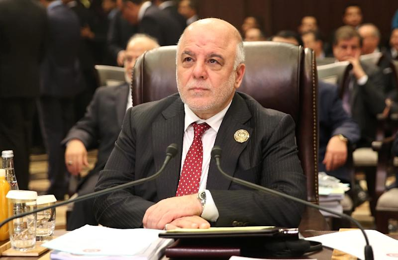 Iraqi Prime Minister Haider al-Abadi, here shown on March 29, 2017, has announced the start of the battle to retake the northern town of Tal Afar from the Islamic State group (AFP Photo/Khalil MAZRAAWI)
