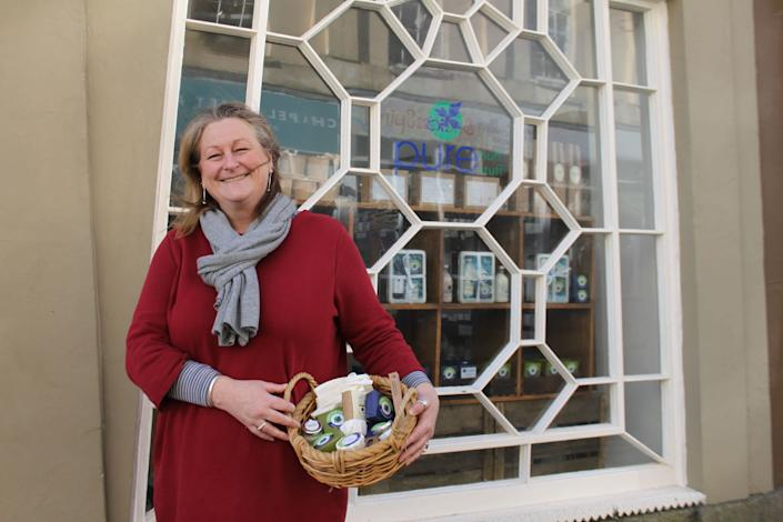 Emily Kavanaugh, owner of Pure Nuff Stuff in Penzance. (Photo: Anna Turns)