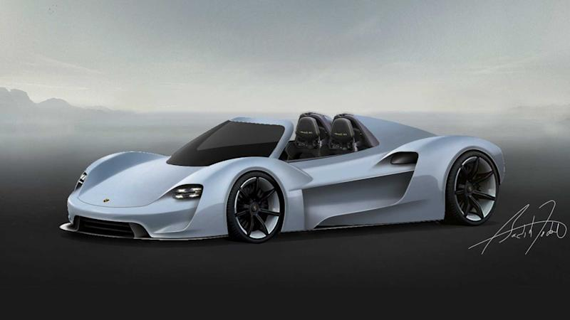 Porsche 918 successor speculative rendering