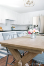 """<p>Thanks to a fresh coat of white paint and new hardware that blends in better with the cabinets, this kitchen has a whole new look.</p><p><strong>Get the tutorial at <a href=""""https://jennakateathome.com/diy-kitchen-makeover/"""" rel=""""nofollow noopener"""" target=""""_blank"""" data-ylk=""""slk:Jenna Kate at Home"""" class=""""link rapid-noclick-resp"""">Jenna Kate at Home</a>.</strong></p><p><strong><a class=""""link rapid-noclick-resp"""" href=""""https://www.amazon.com/Lizavo-701-030SN-Brushed-Cabinet-Handles/dp/B01KC3ZRCK/?tag=syn-yahoo-20&ascsubtag=%5Bartid%7C2139.g.34085615%5Bsrc%7Cyahoo-us"""" rel=""""nofollow noopener"""" target=""""_blank"""" data-ylk=""""slk:SHOP SATIN NICKEL HARDWARE"""">SHOP SATIN NICKEL HARDWARE</a><br></strong></p>"""