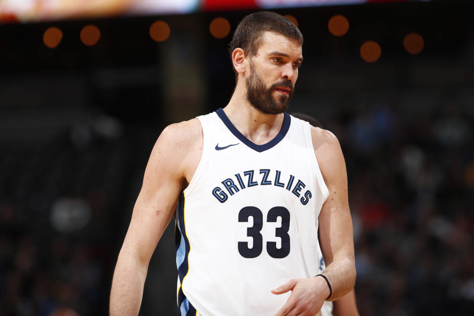 Marc Gasol is 32 and a depreciating asset for the Grizzlies. (AP)