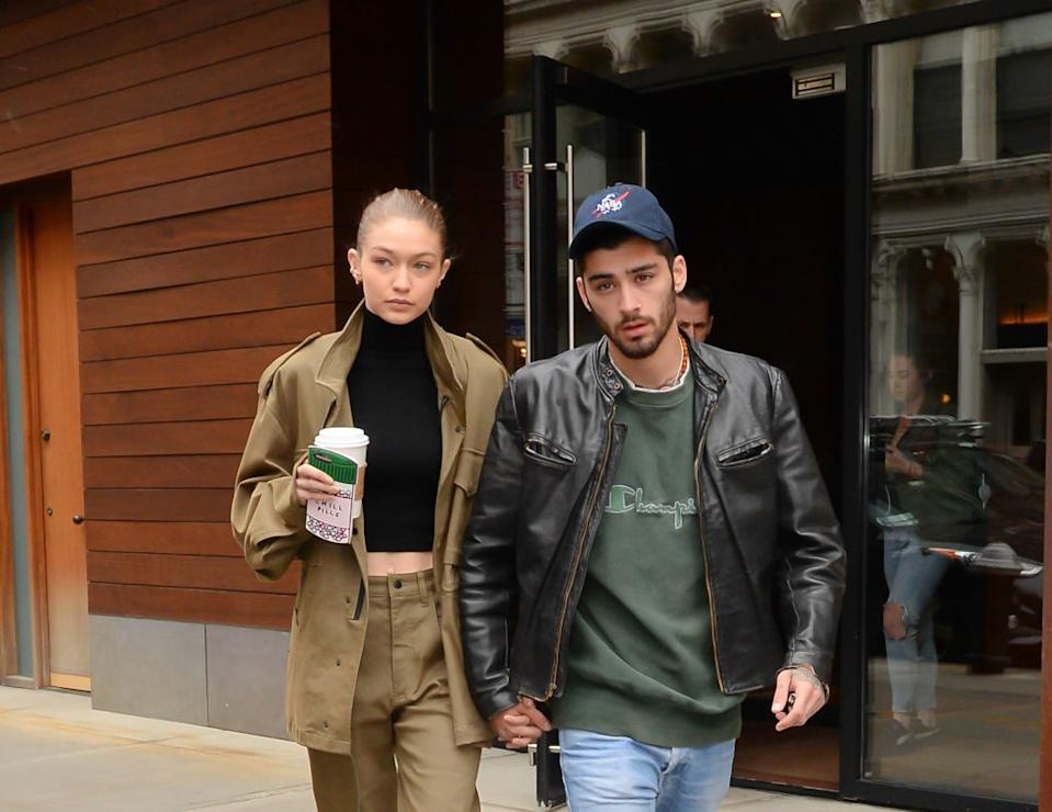 Gigi Hadid has confirmed she is expecting a baby with boyfriend Zayn Malik, pictured here in April 2017. (Getty Images)