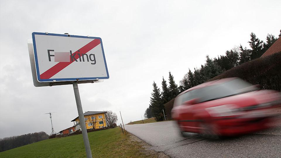 The Austrian village of F**king is being renamed next year, due to tourists and bad jokes. Source: Getty Images/AFP