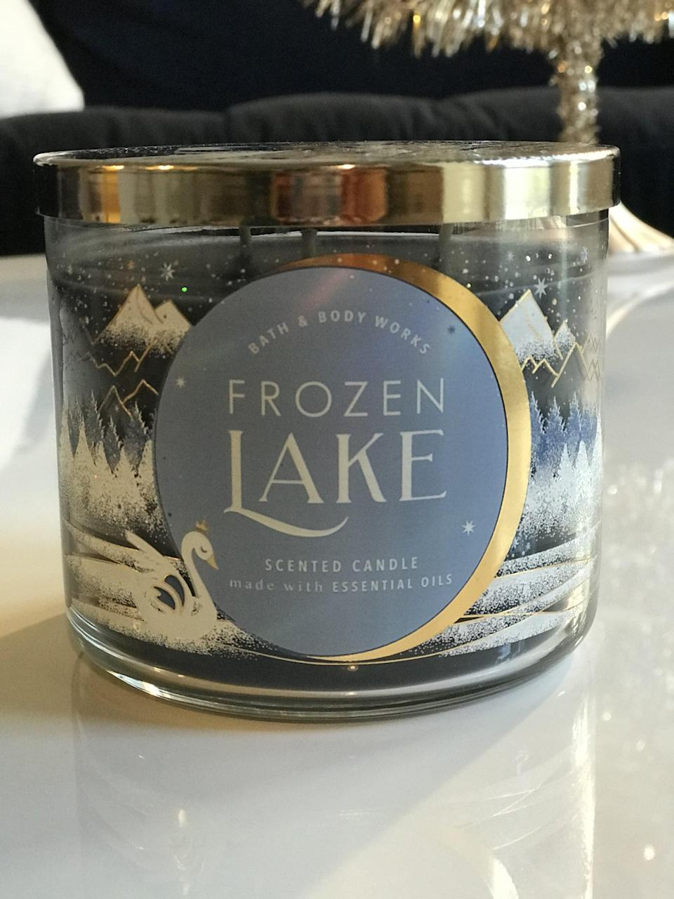 <p><span>Frozen Lake 3-Wick Candle</span> ($15, originally $25)</p> <p><strong>What It Smells Like:</strong> I love the faint notes of lavender. This is more wintery than holiday.</p>