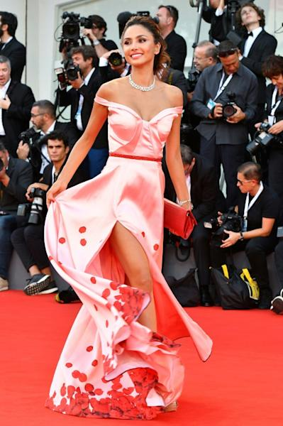 "Actress Patricia Contreras at the Venice Film Festival premiere of the film ""Roma"", which won the Golden Lion award"