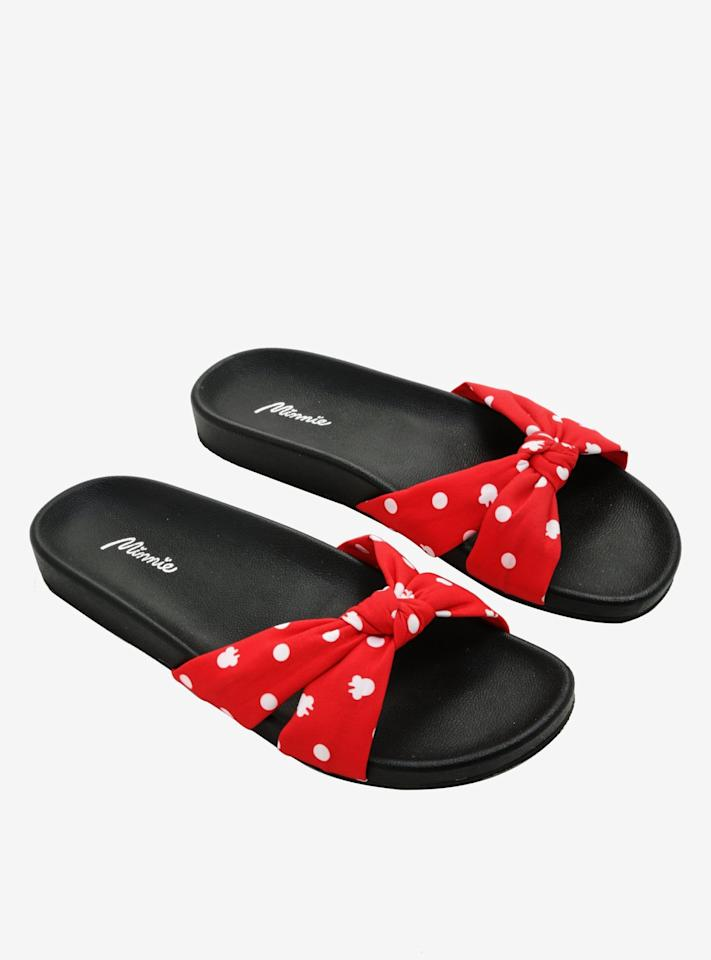 "<p>If you look at the <a href=""https://www.popsugar.com/buy/Disney-Minnie-Mouse-Polka-Dot-Sandals-510806?p_name=Disney%20Minnie%20Mouse%20Polka%20Dot%20Sandals&retailer=hottopic.com&pid=510806&price=24&evar1=savvy%3Aus&evar9=39351065&evar98=https%3A%2F%2Fwww.popsugar.com%2Fsmart-living%2Fphoto-gallery%2F39351065%2Fimage%2F46842267%2FDisney-Minnie-Mouse-Polka-Dot-Sandals&list1=gifts%2Choliday%2Cgift%20guide%2Cdisney%2Cdisney%20princesses%2Cgifts%20for%20women%2Cgifts%20for%20men%2Cgifts%20under%20%24100%2Cgifts%20under%20%2475&prop13=mobile&pdata=1"" rel=""nofollow"" data-shoppable-link=""1"" target=""_blank"" class=""ga-track"" data-ga-category=""Related"" data-ga-label=""https://www.hottopic.com/product/disney-minnie-mouse-polka-dot-sandals/11747493.html#q=disney&amp;sz=60&amp;start=79"" data-ga-action=""In-Line Links"">Disney Minnie Mouse Polka Dot Sandals</a> ($24, originally $40) close enough, you can see the white mouse polka dots. </p>"
