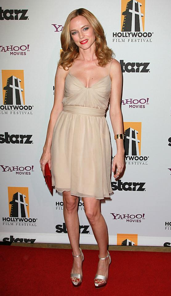 "<a href=""http://movies.yahoo.com/movie/contributor/1800018677"">Heather Graham</a> attends the 14th Annual Hollywood Awards Gala at the Beverly Hilton Hotel on October 25, 2010."