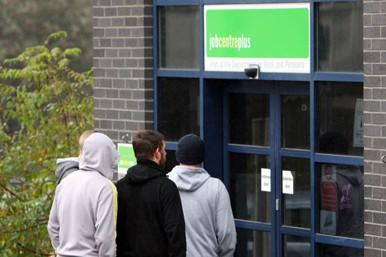 Jobcentre queue