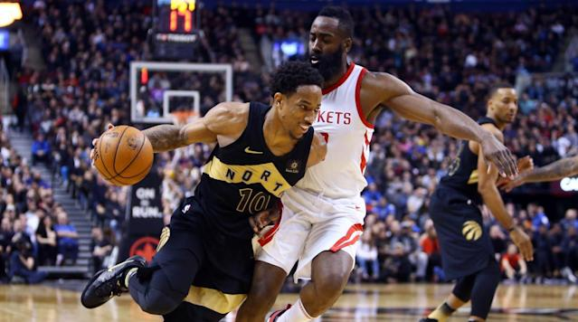 "<p>Week 22 of the NBA season is here, and we're seeing a shake-up at the top of the Power Rankings. Drake Night was a successful endeavor in Toronto, as the <a href=""https://www.si.com/nba/2018/03/09/rockets-lose-win-streak-loss-raptors"" rel=""nofollow noopener"" target=""_blank"" data-ylk=""slk:Raptors knocked off the Rockets"" class=""link rapid-noclick-resp"">Raptors knocked off the Rockets</a> in one of the best games of the season last week. Elsewhere, the Blazers and Jazz are absolutely rolling, while the Warriors are struggling without Steph Curry. Nearly a third of the league is completely tanking, while the middle 16 teams are packed together tightly.</p><p>You may be tempted to take your eye off the NBA as <a href=""https://www.si.com/college-basketball/2018/03/11/ncaa-tournament-bracket-regional-breakdown-march-madness-upset-picks"" rel=""nofollow noopener"" target=""_blank"" data-ylk=""slk:March Madness ramps up"" class=""link rapid-noclick-resp"">March Madness ramps up</a>, but there will be a ton of intriguing basketball played this week and the rest of the season. Let's see where each team stands headed into Week 22.</p><p><strong>30. Memphis Grizzlies (18–48)<br>Last Week: 30</strong></p><p><strong>29. New York Knicks (24–43)<br>Last Week: 23</strong></p><p><strong>28. Phoenix Suns (19–49)<br>Last Week: 29</strong></p><p><strong>27. Orlando Magic (20–47)<br>Last Week: 24</strong></p><p><strong>26. Atlanta Hawks (20–47)<br>Last Week: 27</strong></p><p><strong>25. Brooklyn Nets (21–46)<br>Last Week: 26</strong></p><p><strong>24. Dallas Mavericks (21–46)<br>Last Week: 28</strong></p><p><strong>23. Sacramento Kings (21–46)<br>Last Week: 25</strong></p><p><strong>22. Chicago Bulls (23–43)<br>Last Week: 22</strong></p><p>The Bulls and Knicks have fully joined the ranks of the blurbless and the league's bottom nine teams have separated themselves from the rest of the pack. The Grizzlies have somehow lost a whopping 17 games in a row despite having Mario Chalmers on the team. The Knicks are playing catch up to the rest of the tankers by having dropped seven straight themselves. The Suns are keeping the fight for the No. 1 pick interesting by staying only one game better than Memphis.</p><p><strong>21. Charlotte Hornets (29–38)<br>Last Week: 20</strong><br>Dwight Howard scored 30 points and collected 12 boards in Charlotte's win over Phoenix on Sunday. Howard has quietly put together a very solid season. The Hornets are 5.8 points per 100 possessions better with Dwight on the court, and surprisingly, he's been more impactful on offense than defense. Howard could have a little bit of trade value come the summer.</p><p><strong>20. Detroit Pistons (30–36)<br>Last Week: 21</strong><br>A somewhat troubling sign for the Pistons: Blake Griffin's scoring, rebounding and efficiency have all dropped in Detroit compared to what he did in Los Angeles earlier this season.</p><p><strong>19. Milwaukee Bucks (35–31)<br>Last Week: 19</strong><br>Milwaukee plays three teams from the bottom eight this week. Any losses would be inexcusable.</p><p><strong>18. San Antonio Spurs (37–29)<br>Last Week: 14</strong><br>The Spurs are going to finish without a winning record on the road this season, the first time that's happened in 20 years. Kawhi Leonard will reportedly return this week, and his services will be needed in what's become a very tight race for the playoffs.</p><p><strong>17. Cleveland Cavaliers (38–28)<br>Last Week: 13</strong><br><em>The Cavs' defensive rating before the All-Star break: 109.8</em></p><p><em>The Cavs' defensive rating after the All-Star break: 109.3</em></p><p>No matter who has been on the roster, this team hasn't defended well enough to be taken seriously as a title contender.</p><p><strong>16. Los Angeles Lakers (30–36) <br>Last Week: 12</strong><br>The Lakers are playing spoiler right now, and no team fighting for a playoff spot will look forward to playing these guys. L.A. looks like a better free-agent destination with each win. Monday's showdown with the Nuggets should be fun.</p><p>?</p><p><strong>15. Washington Wizards (38–29)<br>Last Week: 17</strong><br>The 'Zards were blown out by Miami on Saturday, and their next five games are against fellow playoff teams, four of whom are very desperate.</p><p><strong>14. New Orleans Pelicans (38–28)<br>Last Week: 5</strong><br>The Pelicans have lost two in a row after their 10 game win streak. Anthony Davis returned from a one-game absence to post a triple-double against the Jazz but it wasn't enough. The schedule doesn't get easier either, with matchups with the Spurs, Rockets and Celtics on the horizon.</p><p><strong>13. Minnesota Timberwolves (39–29)<br>Last Week: 16</strong><br>Big win for the Wolves over the Stephen Curry-less Warriors on Sunday. Minnesota is hanging on without Jimmy Butler, whose <a href=""https://twitter.com/JimmyButler/status/972955384259342336"" rel=""nofollow noopener"" target=""_blank"" data-ylk=""slk:tweets have improved significantly"" class=""link rapid-noclick-resp"">tweets have improved significantly</a> since his injury.</p><p><strong>12. Denver Nuggets (37–30)<br>Last Week: 8</strong><br>The Nuggets rebounded from Nikola Jokic's fourth-quarter benching to win their last two games of Week 21. Still, if the playoffs started today, Denver would be on the outside looking in. The Nuggets' defense has been the second-worst in the league since the All-Star break.</p><p><strong>11. Philadelphia 76ers (36–29)<br>Last Week: 9</strong><br>The 76ers have a very manageable schedule to close out this month. Philly has a legitimate chance to have homecourt in a first-round playoff series.</p><p><strong>10. Oklahoma City Thunder (39–29)<br>Last Week: 15</strong><br>Corey Brewer could end up being the Thunder's best Andre Roberson replacement. The Russ-PG-Melo-Steven Adams-Brewer group has a 13.2 net rating in 40 minutes over three games. The defense has taken a hit, but Brewer is helping the offense.</p><p><strong>9. Miami Heat (36–31)<br>Last Week: 18</strong><br>The Heat seem to be regaining their stride, going 3–1 last week, with the only loss coming in OT on the road. Miami has the second-best net rating in the East over the last 10 games. Oh, and it was slightly interesting to see the team's offense take off without Hassan Whiteside in a blowout win over the Wizards.</p><p><strong>8. Los Angeles Clippers (36–29)<br>Last Week: 10</strong><br>This is going to be a tough week for the Clips, who will play the Rockets, Thunder and Blazers. Los Angeles only has three games left against under-.500 teams the rest of the season.</p><p><strong>7. Utah Jazz (37–30)<br>Last Week: 11</strong><br>The Jazz are streaking again, winning six straight to put themselves on the cusp of a playoff spot in the West. Utah enters Week 22 with the third-best defense in the NBA.</p><p><strong>6. Boston Celtics (46–21) </strong><br><strong>Last Week: 6</strong><br>The Celtics have fallen 3 1/2 games behind the Raptors for the No. 1 seed in the East. Boston may be closer to the second tier of playoff teams than they are to Toronto.</p><p>?</p><p><strong>5. Indiana Pacers (39–28)<br>Last Week: 7</strong><br>Indiana is on pace to both win more games than last season and win more games than Paul George's Thunder. Indy has three tough games coming up against Philly, Toronto and Washington this week, though.</p><p><strong>4. Golden State Warriors (51–16)<br>Last Week: 2</strong><br>The Dubs have lost two in a row in a win for the Curry-is-better-than-Durant crowd. Expect Golden State to not only right the ship, but be extra, extra cautious with Curry as the playoffs approach.</p><p><strong>3. Portland Trail Blazers (40–26)<br>Last Week: 4</strong><br>Portland is the hottest team in the league, now having won nine in a row. The Blazers still only have a two-game lead on the Pelicans and Wolves in the bunched-up West.</p><p><strong>2. Houston Rockets (52–14)<br>Last Week: 1</strong><br>The Rockets have been bumped from the top spot after Toronto ended their 17-game win streak. Houston still has a 1 1/2-game lead on the Warriors for first place and homecourt throughout the playoffs.</p><p><strong>1. Toronto Raptors (49–17)<br>Last Week: 3</strong><br>The Raptors have won eight in a row and nine of their last 10. It's not too late for Drake to re-make the ""God's Plan"" video and add one scene of DeMar DeRozan holding up the Larry O'Brien Trophy.</p>"