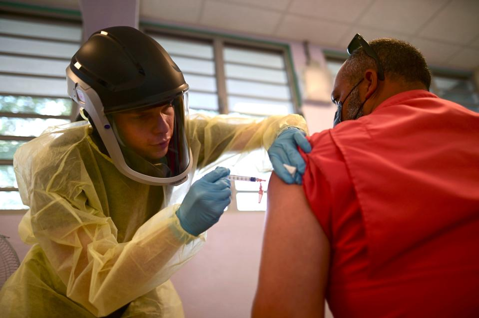 Virus Outbreak Puerto Rico (Copyright 2021 The Associated Press. All rights reserved.)