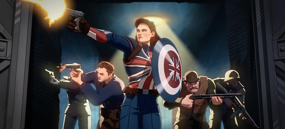 Captain Carter (Hayley Atwell) in What If...? (Still: Disney+)