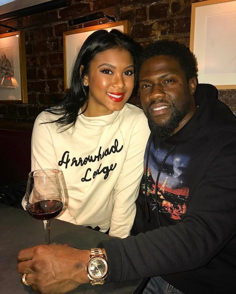 """<p>The comedian made sure his wife of less than a year, Eniko Parrish, was feeling the love with his passionate and spicy message: """"Happy Valentines Day to my beautiful ass wife AKA My """"RIB"""" ….Love the s*** out of you girl!!! #Harts."""" (Photo: Instagram) </p>"""