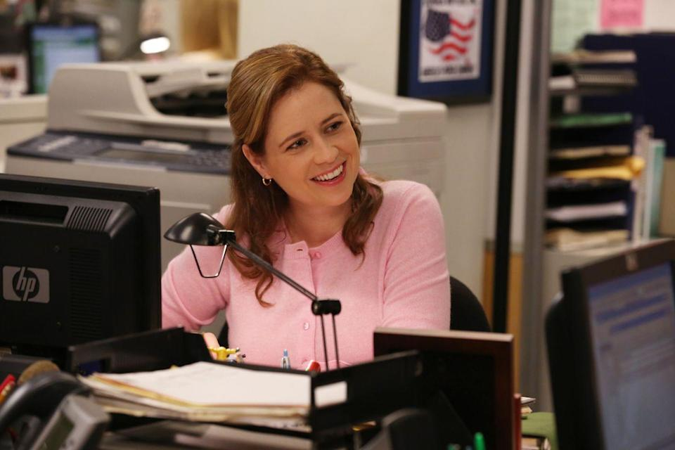 <p>Remember Jenna as Pam Beesly? She was the receptionist-turned-saleswoman who was known for being shy, kind, and head-over-heels for Jim Halpert. Just don't expect to run into her at Chile's anytime soon...</p>