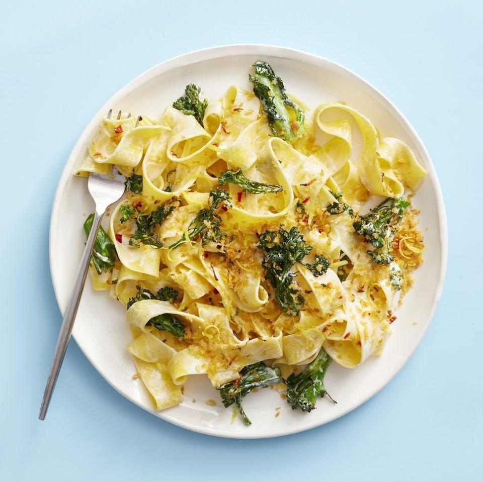 "<p>Make extra breadcrumbs when prepping this easy weeknight dinner: you'll want to add them to all your favorite dishes.</p><p><em><a href=""https://www.goodhousekeeping.com/food-recipes/a30381355/creamy-broccolini-pasta-with-chile-breadcrumbs-recipe/"" rel=""nofollow noopener"" target=""_blank"" data-ylk=""slk:Get the recipe for Creamy Broccolini Pasta With Chile Breadcrumbs »"" class=""link rapid-noclick-resp"">Get the recipe for Creamy Broccolini Pasta With Chile Breadcrumbs »</a></em></p>"