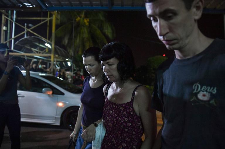 Family members arrive at a Malaysian hospital where the body of 15-year-old Franco-Irish teenager Nora Quoirin was taken, and later identified by her parents (AFP Photo/Mohd RASFAN)