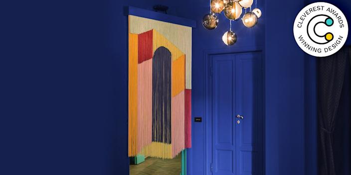 Portale by Kate Crowley-Gilbert and Adriana Jaroslavsky Why have a boring old door when you could have a vibrant work of art to serve the purpose instead? Made from hand-dyed strings, this customizable piece lets light pass through while providing some privacy (and a ton of personality). katecrowbert.com
