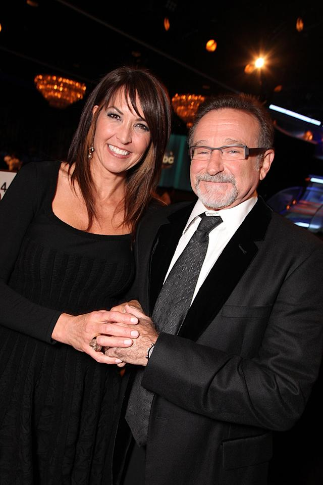 "<a href=""http://movies.yahoo.com/movie/contributor/1808831024"">Susan Schneider</a> and <a href=""http://movies.yahoo.com/movie/contributor/1800013042"">Robin Williams</a> at the 24th American Cinematheque Annual Gala Honoring Matt Damon on March 27, 2010."
