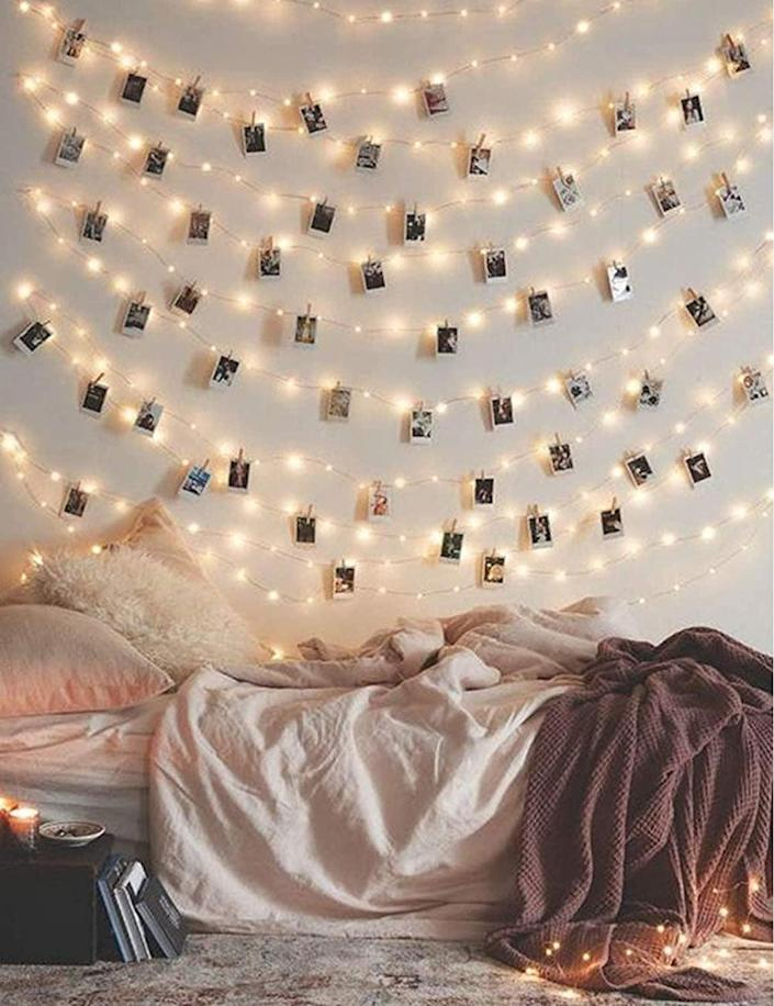 <p>These <span>Photo Clip String Lights</span> ($11, originally $15) are so gorgeous.</p>