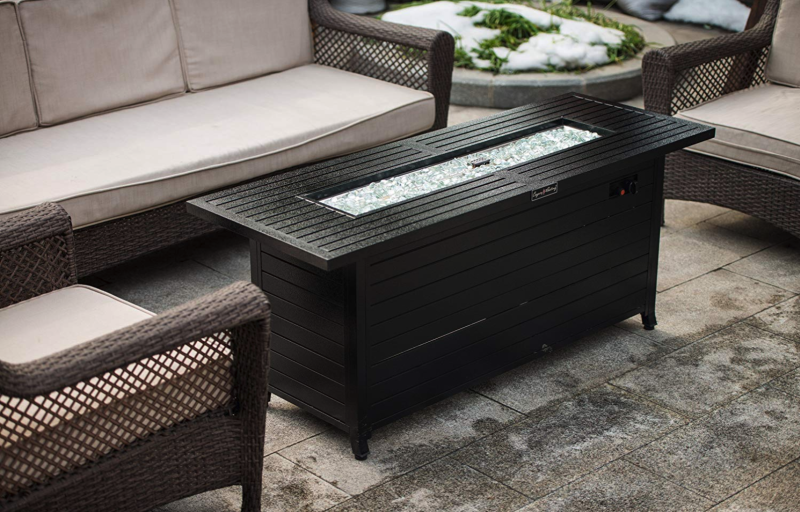 Legacy Heating Gas Aluminum Fire Table. (Photo: Amazon)
