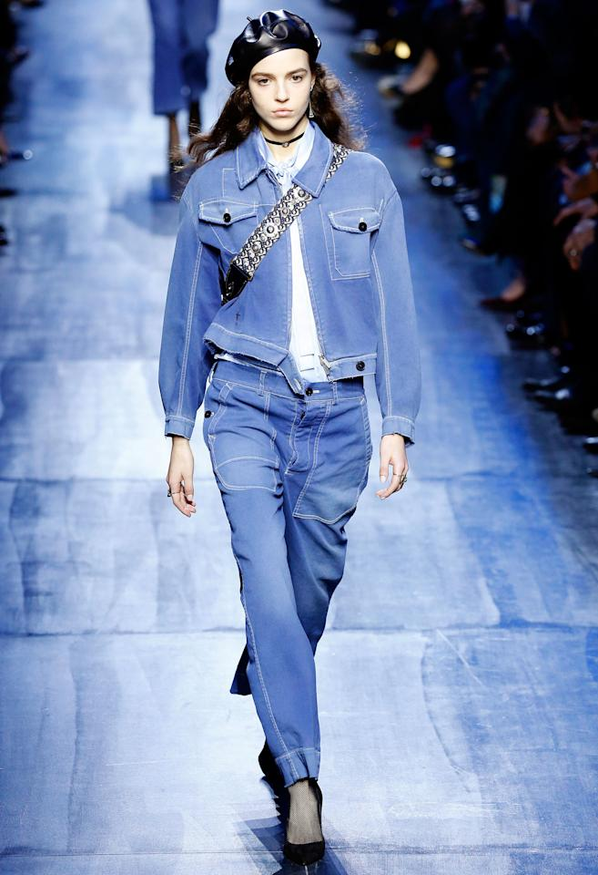 <p>You heard it here first: Throw out your beanies and get a leather beret. Channel the most French version of yourself and wear it with everything: from a black tie sparkly gown to double denim.</p>