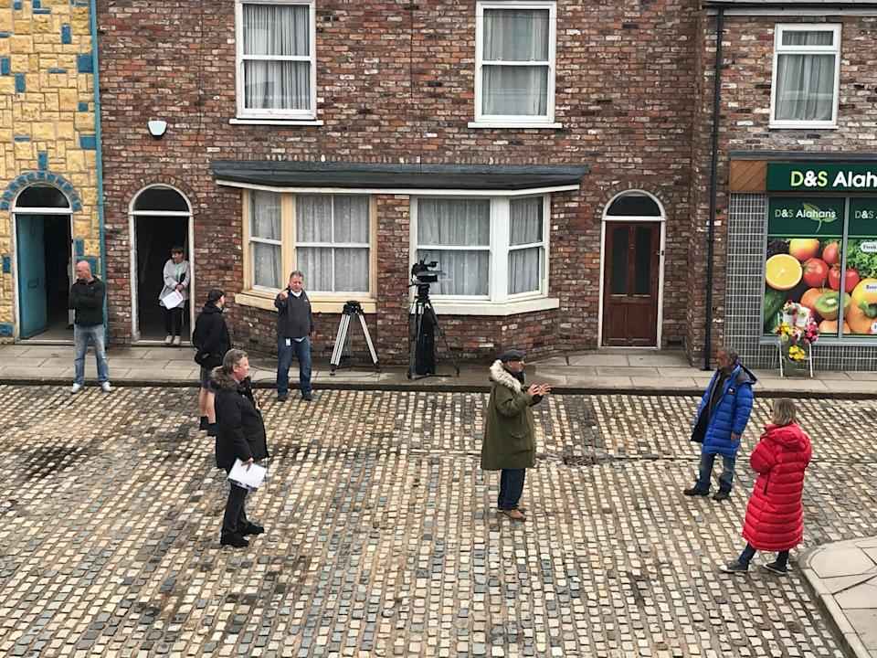 Coronation Street returned to socially distanced filming in May (ITV)