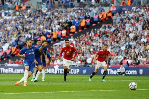 Eden Hazard won and converted the cup-winning penalty as Chelsea beat Manchester United in the FA Cup final