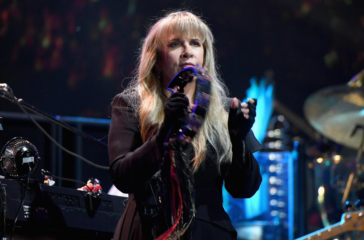 LAS VEGAS, NV - SEPTEMBER 21: (EDITORIAL USE ONLY; NO COMMERCIAL USE)  Stevie Nicks of Fleetwood Mac performs onstage during the 2018 iHeartRadio Music Festival at T-Mobile Arena on September 21, 2018 in Las Vegas, Nevada.  (Photo by Denise Truscello/Getty Images for iHeartMedia)