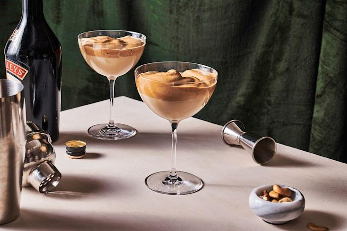 "<p>A bit of vodka and Baileys' brings the booze to this South Korean Coffee drink.</p><p>Get the coffee from <a href=""https://www.delish.com/cooking/recipe-ideas/a32407899/dalgona-martini-recipe/"" rel=""nofollow noopener"" target=""_blank"" data-ylk=""slk:Delish"" class=""link rapid-noclick-resp"">Delish</a>. </p>"