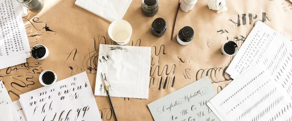 Calligraphy and ink