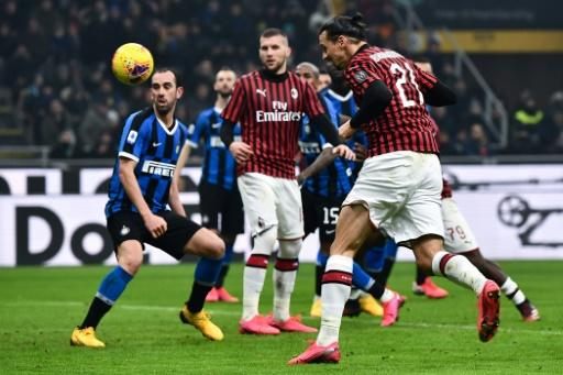 Zlatan Ibrahimovic nodded in Milan's second goal in the San Siro