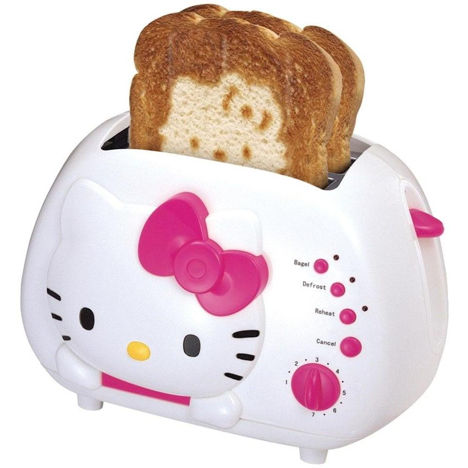 <p>This <span>Hello Kitty Toaster</span> ($49) will make your toast look too cute to eat! </p>