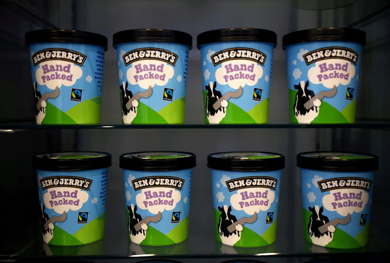FILE PHOTO: Ben & Jerry's shop in London