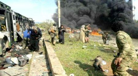 Observers: At least 126 dead in Syrian evacuee convoy bombing