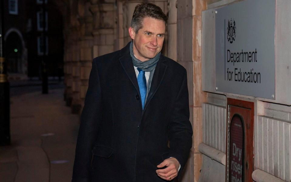 Gavin Williamson said the success of the vaccine rollout and the current low level of Covid cases in schools meant the mask guidance could be changed - Paul Grover/The Telegraph