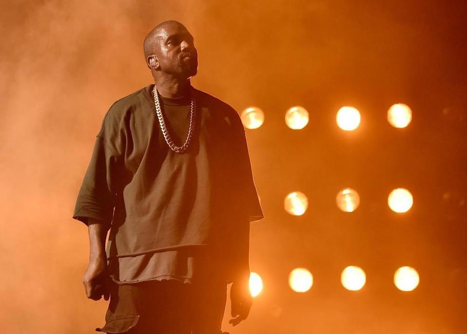 """<span class=""""element-image__caption"""">Kanye West performs in Las Vegas in 2015.</span> <span class=""""element-image__credit"""">Photograph: Kevin Winter/Getty Images</span>"""