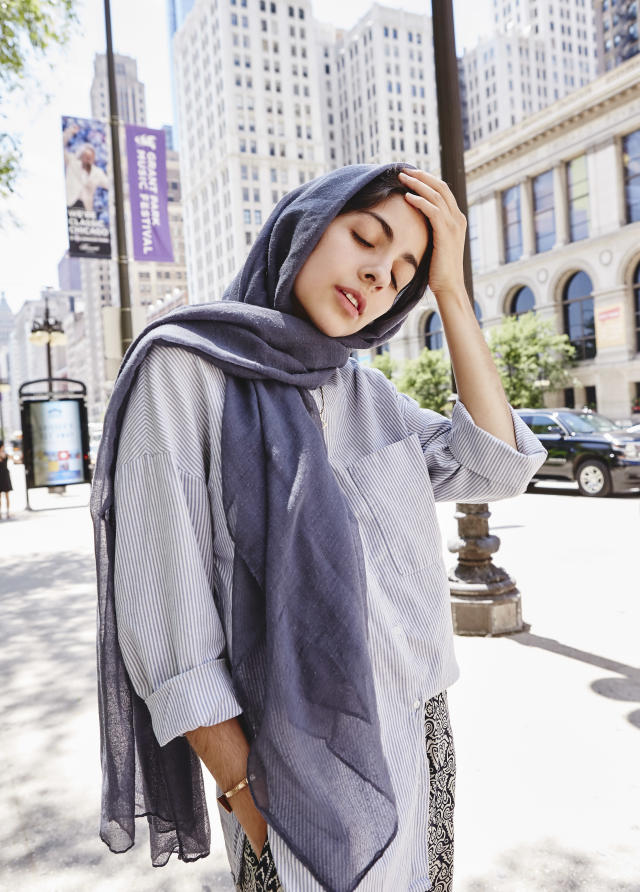 <p><b>In what ways does your faith influence your fashion choices? </b> Islam is a lifestyle choice centered on mindfulness and self-awareness, modesty in appearance and consumption, and appreciation and value of life, among other values — meaning the more religious I've become, the less I excessively buy clothes and the more I pay more attention to who makes my clothes and in what conditions. An understanding that trends and material goods are not more valuable than the people who make them strongly shapes how I choose to present my body in public spaces and with what clothes. But, of course, Islam is not the sole influence on my fashion choices; I'm also inspired by my culture, art, and surroundings — and the weather!<br>(Photo: Jamie Berg for Yahoo Lifestyle) </p>