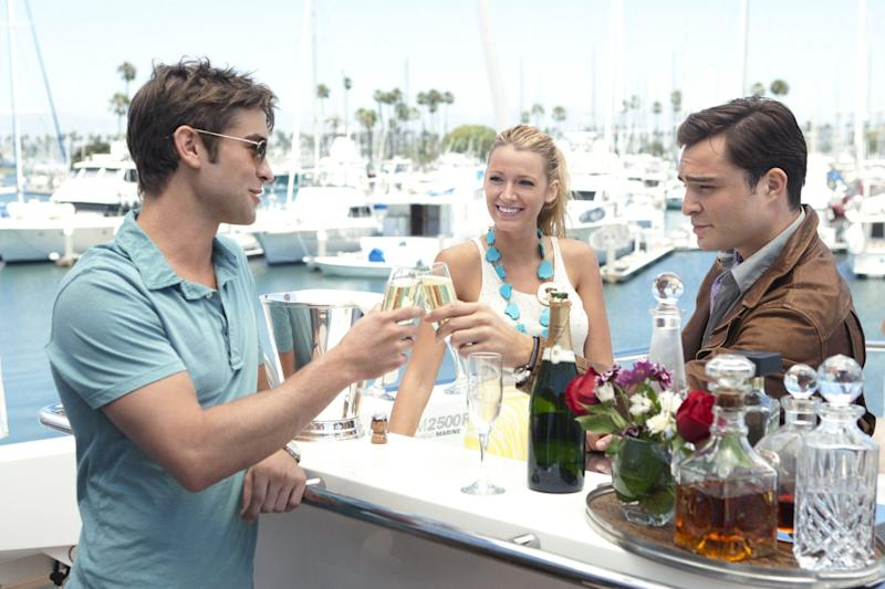 Chace Crawford, Blake Lively, and Ed Westwick in Gossip Girl.