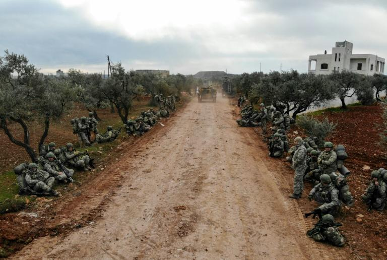 Since Friday, Turkey has sent long convoys to reinforce its observation posts in Syria's Idlib (AFP Photo/Omar HAJ KADOUR)