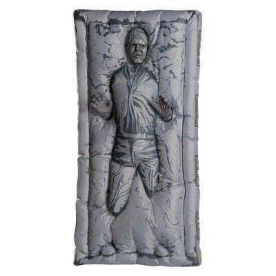 """<p><strong>BuySeasons</strong></p><p>target.com</p><p><strong>$55.99</strong></p><p><a href=""""https://www.target.com/p/adult-star-wars-classic-inflatable-han-solo-in-carbonite-halloween-costume-one-size/-/A-53566857"""" rel=""""nofollow noopener"""" target=""""_blank"""" data-ylk=""""slk:Shop Now"""" class=""""link rapid-noclick-resp"""">Shop Now</a></p><p>If you've ever wanted to be Hans Solo... but in carbonite, now's your chance! </p>"""